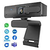 Auto Focus Webcam 1080P with Privacy Cover, Super High Definition Web Cam with...