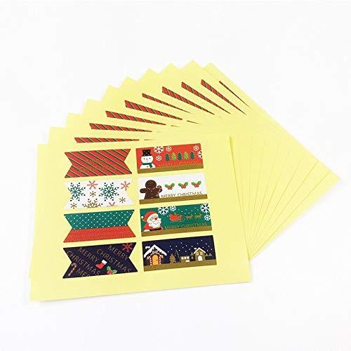 80 unids / lote Vintage hombre de pan de jengibre + nieve + muñeco de nieve serie de Navidad pegatina adhesiva de papel suministros escolares Kawaii