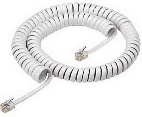 SOUTHWESTERN BELL S60067 White Handset Cord 12 Feet