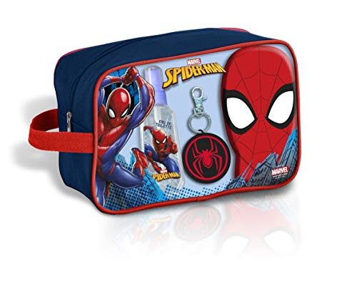 Spiderman Neceser baño Colonia Fragancia EDT 90Ml, Colgante & Gel 300Ml de...