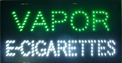 CHENXI Led Neon Vapor E-Cigarettes Smoke Shop Open Store Signs Vape E-Liquid Sign Board Indoor (48 X 25 cm, Vapor E-Cigarettes)