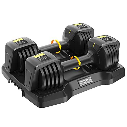 JOLISTEN Adjustable Weights Dumbbells Set of 2, 2.5 /5 /7.5...