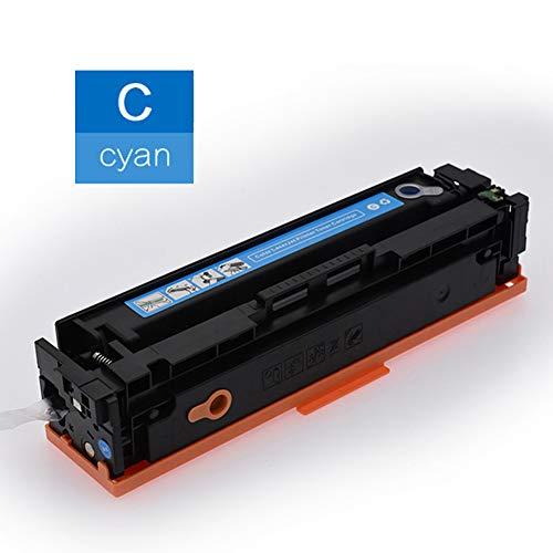 PGODYQ Originele verbruiksartikelen CF540A CF541A CF542A CF543A tonercartridge voor HP Color LaserJet Pro M254dn M254dw M254nw MFP M280nw M281cdw M281fdn M281fdw laserprinter 203A tonercartridge, size, Cyaan