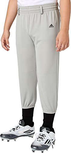 Adidas Boys Triple Stripe Pull Up Baseball Pants (Grey Baseball, M)