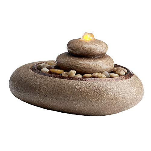 Homedics Oceanside Relaxation Tabletop Fountain, Brown