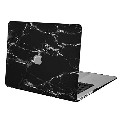 MOSISO Hard Case Compatible with MacBook Air 13 inch Model A1369 / A1466 (Release 2010-2017 Older Version), Ultra Slim Pattern Plastic Protective Snap On Shell Cover, Black Marble