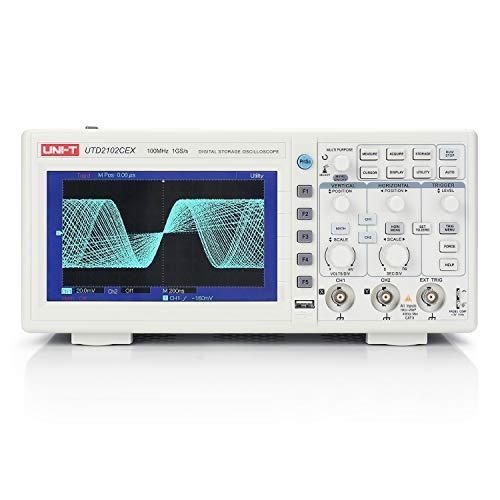 UNI-T UTD2102CEX Digital Oscilloscope, USB Oscilloscope, 2 Channel, 100MHz, 1 GSa/s