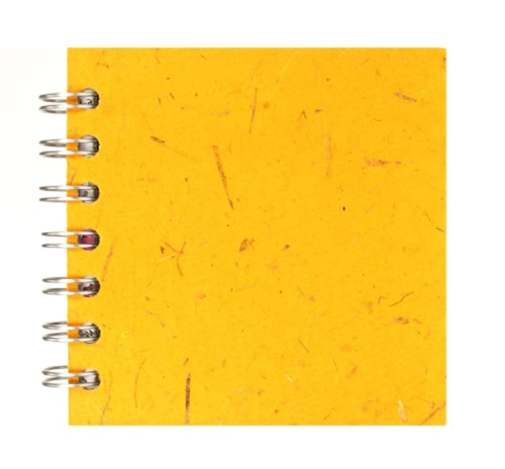Zen Pink Pig, 4 x 4 Inch Square Sketchbook | 35 White Sheets, 100 Pound | Amber