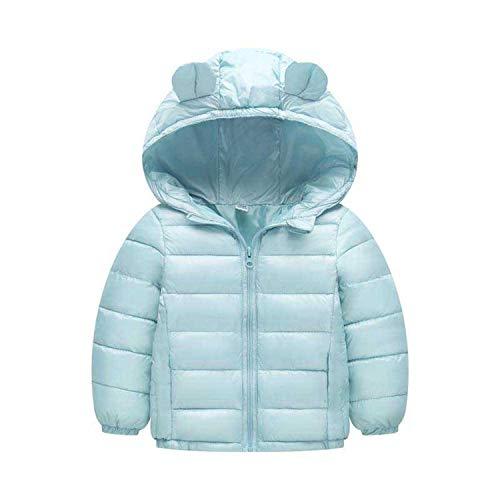 Guy Eugendssg Infant Coat Autumn Winter Baby Jackets for Baby Boys Jacket Kids Warm Outerwear Coats Light Blue 12M
