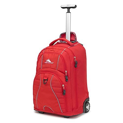 High Sierra Freewheel Wheeled Laptop Backpack, 15-inch Student Laptop Backpack for High School or...