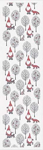 "Ekelund Master Weavers - Tomteliv - @14"" x 47"" Natural Organic Cotton Fine Swedish Table Runner"