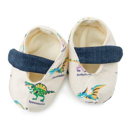 赤ちゃんにやさしい安心ベビーシューズ(日本製)恐竜王者が大集合(生成)B1801300日本製