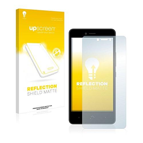 upscreen Entspiegelungs-Schutzfolie kompatibel mit BQ Aquaris U – Anti-Reflex Bildschirmschutz-Folie Matt