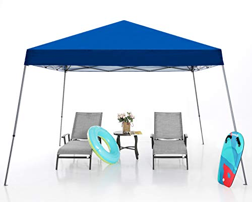 MASTERCANOPY Pop Up Canopy Tent,Outdoor Portable Canopy,Beach Canopy with Wheel Bag(8x8 Base,Blue)