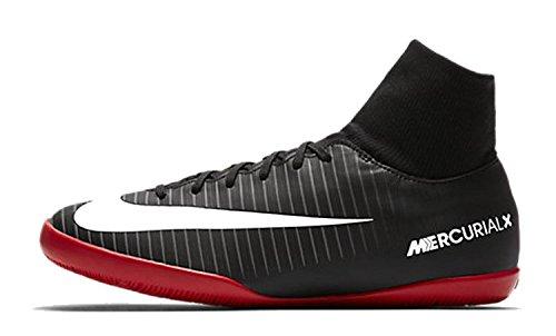 Nike Unisex MercurialX Victory VI Dynamic Fit IC Fußballschuhe, Schwarz (Black/White-Dark Grey-University Red), 36.5 EU