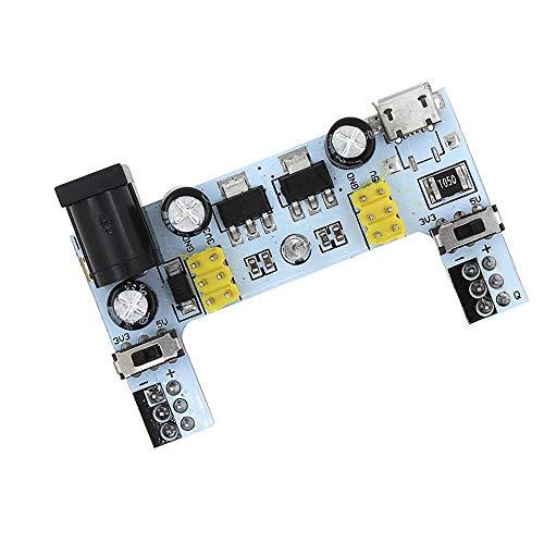 CAIJINJIN Módulo MB-102 Junta DC 7-12V Micro USB Interfaz de Tablero de alimentación Módulo 2 Canales