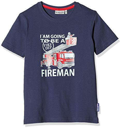 Salt & Pepper Jungen 03112137 T-Shirt, Blau (Navy 498), 116 (Herstellergröße: 116/122)