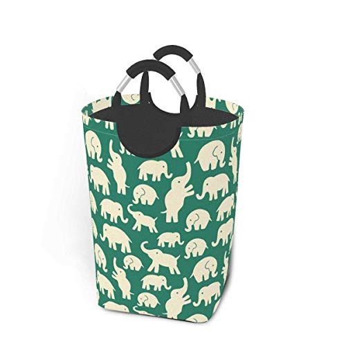 Quintion Cooper Elephants Can Be Animals Elephant Hanging Laundry Basket Hamper Bag Dirty Clothes Storage Bin Washing Baskets Kids Toy Book Clothing Holder for Door Wall Home Bathroom Bedroom