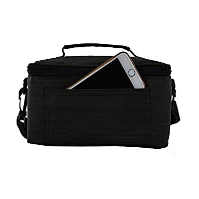 UTRO Handmade Premium Waterproof Canvas Case Bag with Detachable Shoulder Strap & Carry Handle for Samsung Gear VR, Virtual Reality Headset, and all the other brands VR Glasses 3D Glasses (Black)