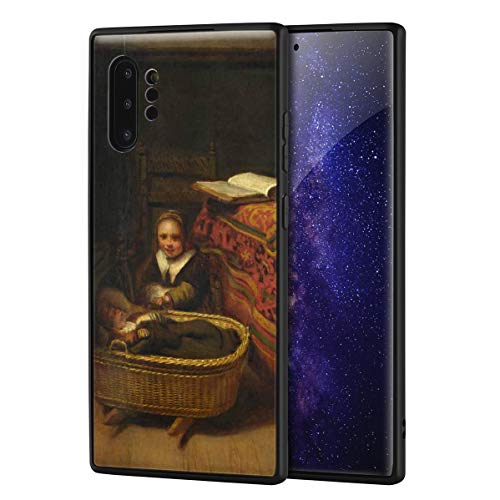Berkin Arts Nicolaes Maes for Samsung Galaxy Note 10 ProArt Cellphone Case/GicleeUVReproductionPrintonMobilePhoneCover(A Little Girl Rocking A Cradle)