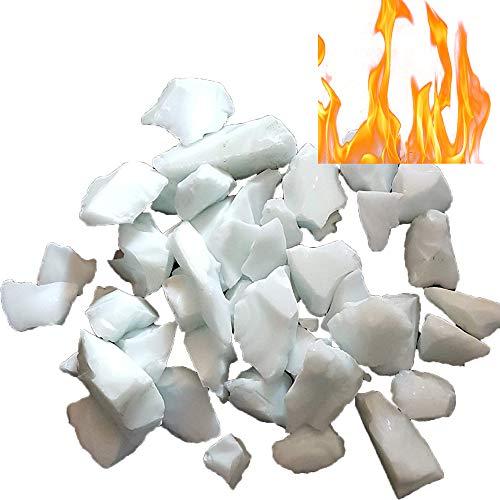 Firebrand Direct Verre à feu blanc 1 kg – Pour foyers, foyers à gaz et brûleurs à l'éthanol