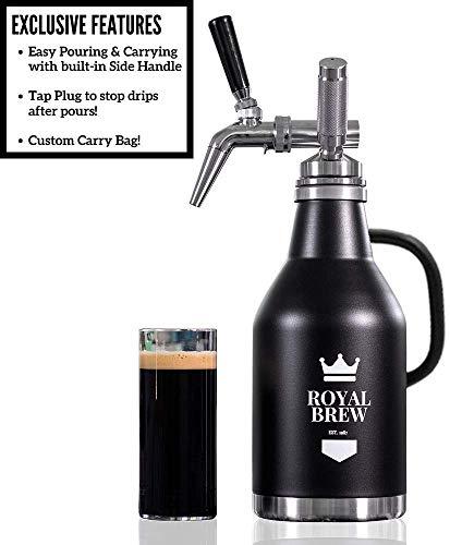 Royal Brew Nitro Cold Brew Coffee Growler Maker Kit System (Matte Flat Black)