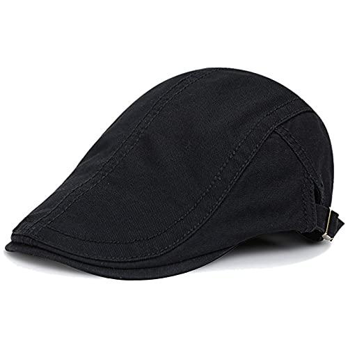 KeepSa Algodón Ajustable Boinas Hombre Gorras Plana Vintage Sombreros Verano Transpirable Gorr...