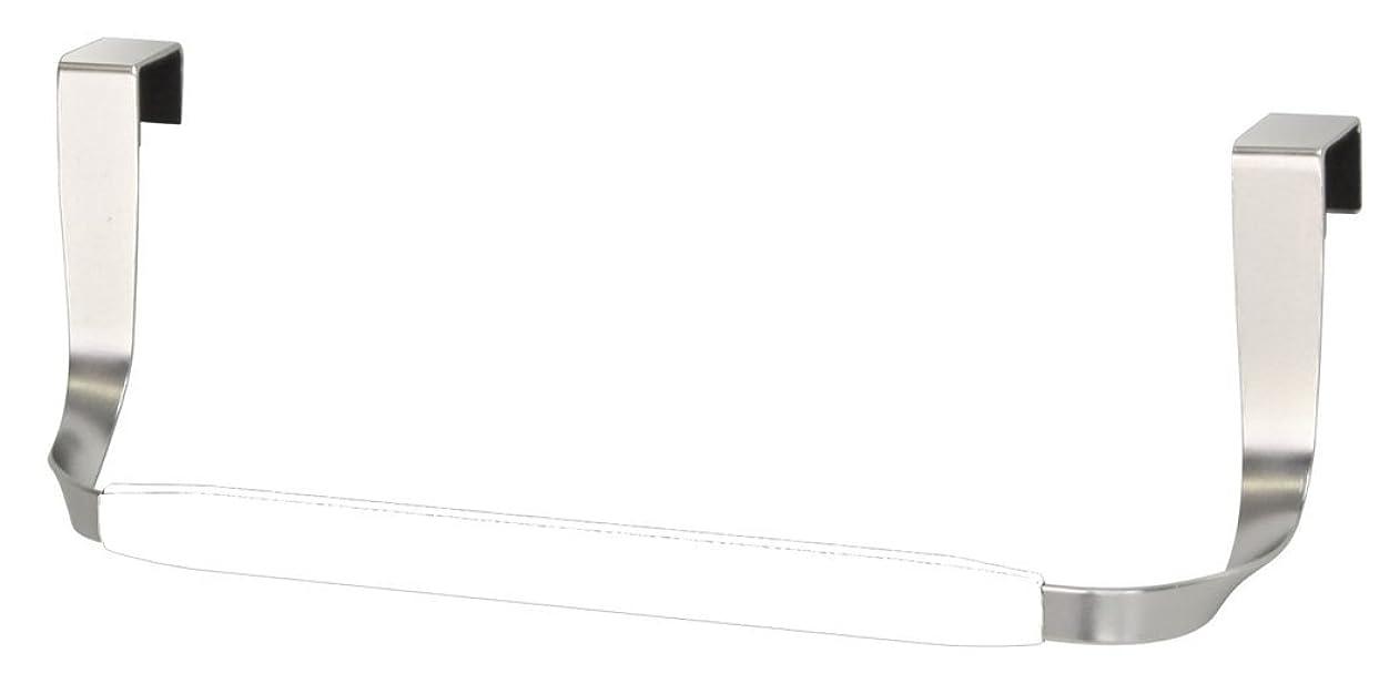 舌平凡牛umbra 扉用タオル掛け SCHNOOK CAB TOWEL BAR(スックヌック キャブ タオルバー) ホワイト/ニッケル 2330043-670