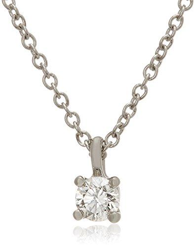 [ティファニー] TIFFANY ダイヤモンド 0.12ct プラチナ ソリティア ブリリアントカット ダイヤモンド ペンダント ネックレス 14001557 [並行輸入品]