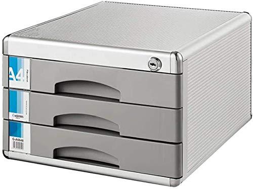 Archivador Archivador de archivos de escritorio Bloqueo de datos de aleación de aluminio Cajón de almacenamiento de oficina Confidencialidad con cerradura Organizador de cajón de escritorio de ofi