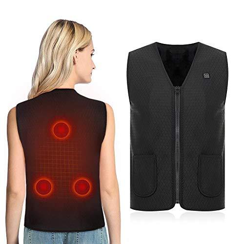 Nicewl elektrisch verwarmd vest voor dames, powerbank, beweegbaar warm binnenvest, intelligente elektrische massagertherapie-pad voor lichaam, snowmobile fiets