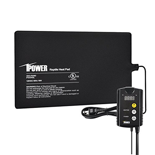 "iPower 8""x12"" Under Tank Heat pad and Digital Thermostat Combo Set for Reptiles"