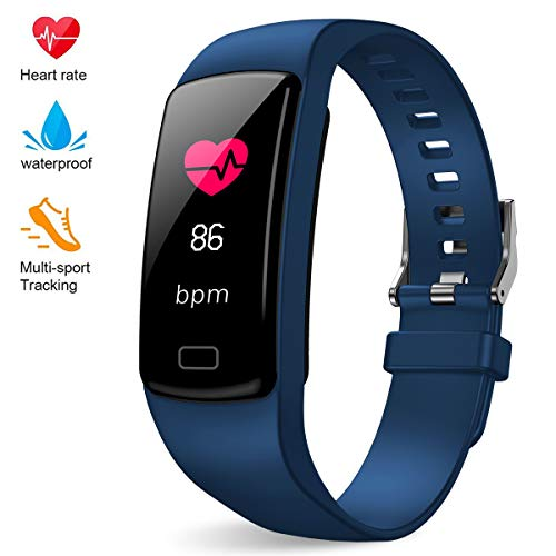 Fitness Tracker for Women Men,Colorful Screen Activity Tracker Smart Watch with Heart Rate Monitor,Waterproof Pedometer Watch, Sleep Monitor, Stopwatch,Step Counter【2020 Version】