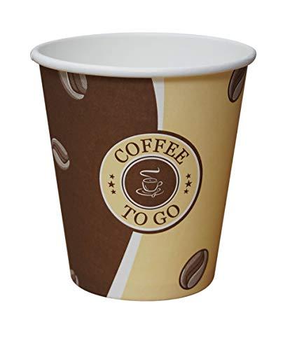 Gastro-Bedarf-Gutheil 100 Top Pappbecher Einwegbecher EINWEG Coffee to go 250 ml / 10oz Becher 0,25 L Ideal für Coffee Latte Machiato Cappuccino Chocolate Tea Cream