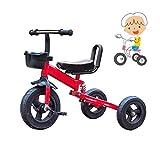 Plegable de tres ruedas andador triciclo 1-3 años de edad, tres-en-uno triciclo triciclo infantil for niños de 3 redondos niños y niñas bicicleta infantil opción de actualización equilibrio del coche