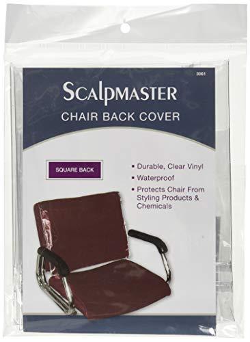 Scalpmaster Housse de Protection arrière pour Fauteuil carré en Vinyle Transparent
