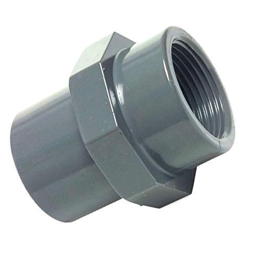 Unbekannt PVC-U Fitting Adapter Gewindemuffe Durchmesser 50mm Klebemuffe auf IG 1 1/2