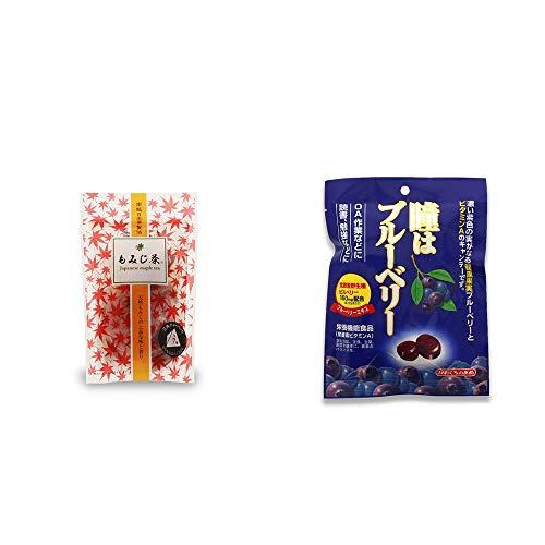 [2点セット] もみじ茶(7パック入)・瞳はブルーベリー 健康機能食品[ビタミンA](100g)
