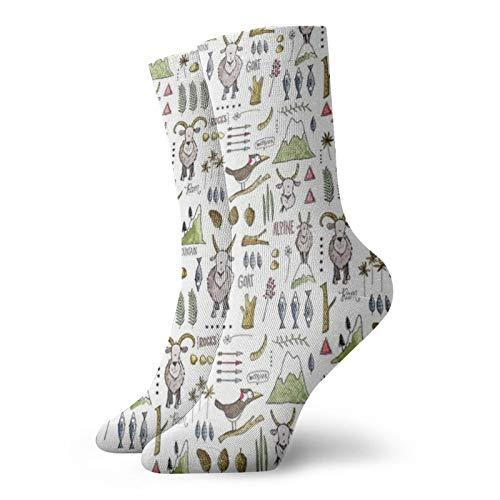 Colin-Design Billy Goat Billy Goat Calcetines Personalizados Deporte Medias Deportivas 11.8 Pulgadas Calcetines De Tripulación Para Hombres Mujeres