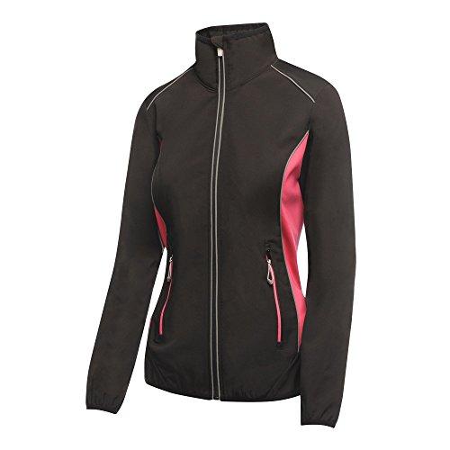 adidas Damen Sochi Softshell Sweatjacke, Schwarz (Black/Hot Pink 169), Herstellergröße: 12 (38)