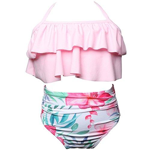 huateng Traje de baño a Juego con la Familia Bikini Vestido de baño para Mujer y niña, 6 Meses - 3 años de Edad Bebé Ropa de Playa Mamás e Hijas Tankini