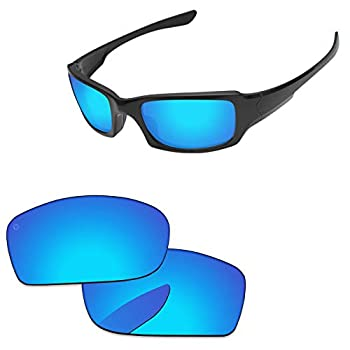 PapaViva Lenses Replacement for Oakley Fives Squared Pro+ Ice Blue Polarized