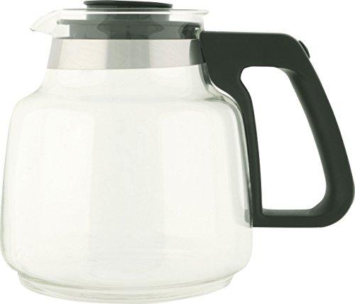Melitta Verseuse en Verre, Capacité 1 Litre, Pour Cafetières à Filtres Aroma Excellent Steel Glass, Noir/Inox