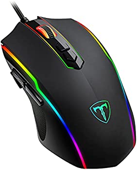 Wired RGB Backlit Ergonomic Optical Gaming Mouse with Fire Button