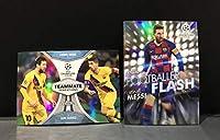 2枚セットLionel Messi Luis Suarez 2019-20 Topps Chrome UEFA CL Footballer Flash + Teammate Sensations!!FC Barcelona