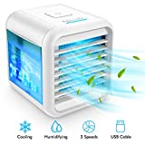 Personal Air Cooler - Evaporative Air Coolers with Icebox, 4-in-1...
