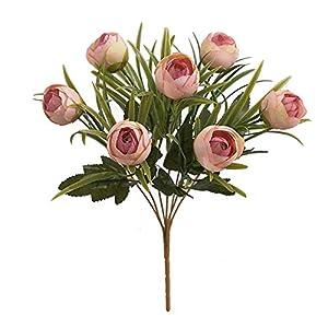 1Pc Artificial Camellia Fake Flower Home Office Ornament Wedding Party Decor,Artificial Plants & Flowers for Home Wedding Office Decor DIY Crafts Gift