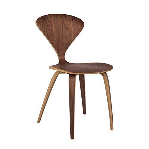 Chaise Fauteuil Siège Chaises Chair Bois Massif Nordique Simple Personnalité Art Type De Ventilateur Retro Lumière Luxe Loisirs TINGTING (Couleur : Noyer)