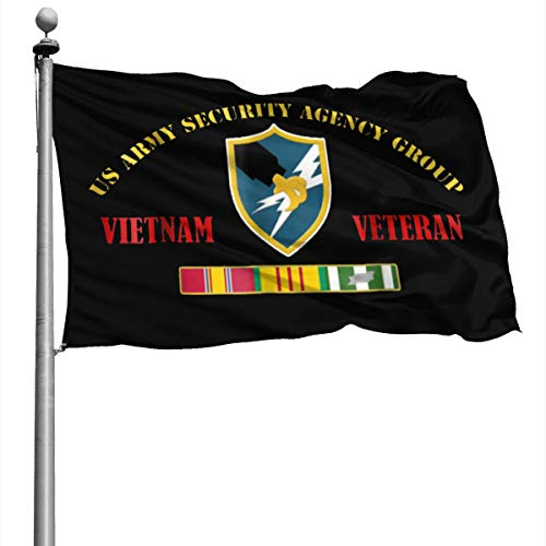 Army Security Agency Group Vietnam Veteran Flag 4X6 Foot Banner Flags Garden Flag Home House Flags Outdoor Flag