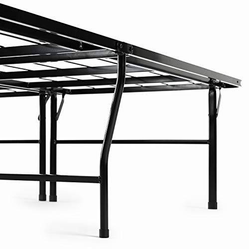 Zinus Casey 18 Inch Premium SmartBase Mattress Foundation / 4 Extra Inches high for Under-bed Storage / Platform Bed Frame / Box Spring Replacement / Strong / Sturdy / Quiet Noise-Free, Queen
